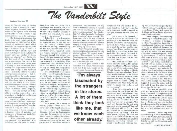 The Vanderbilt Style 1982