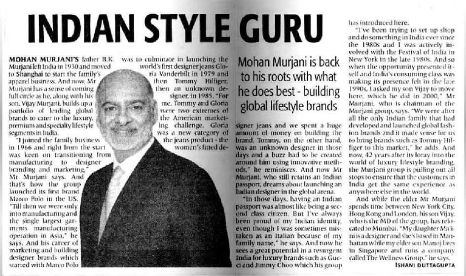 Indian style guru: Building global lifestyle brands