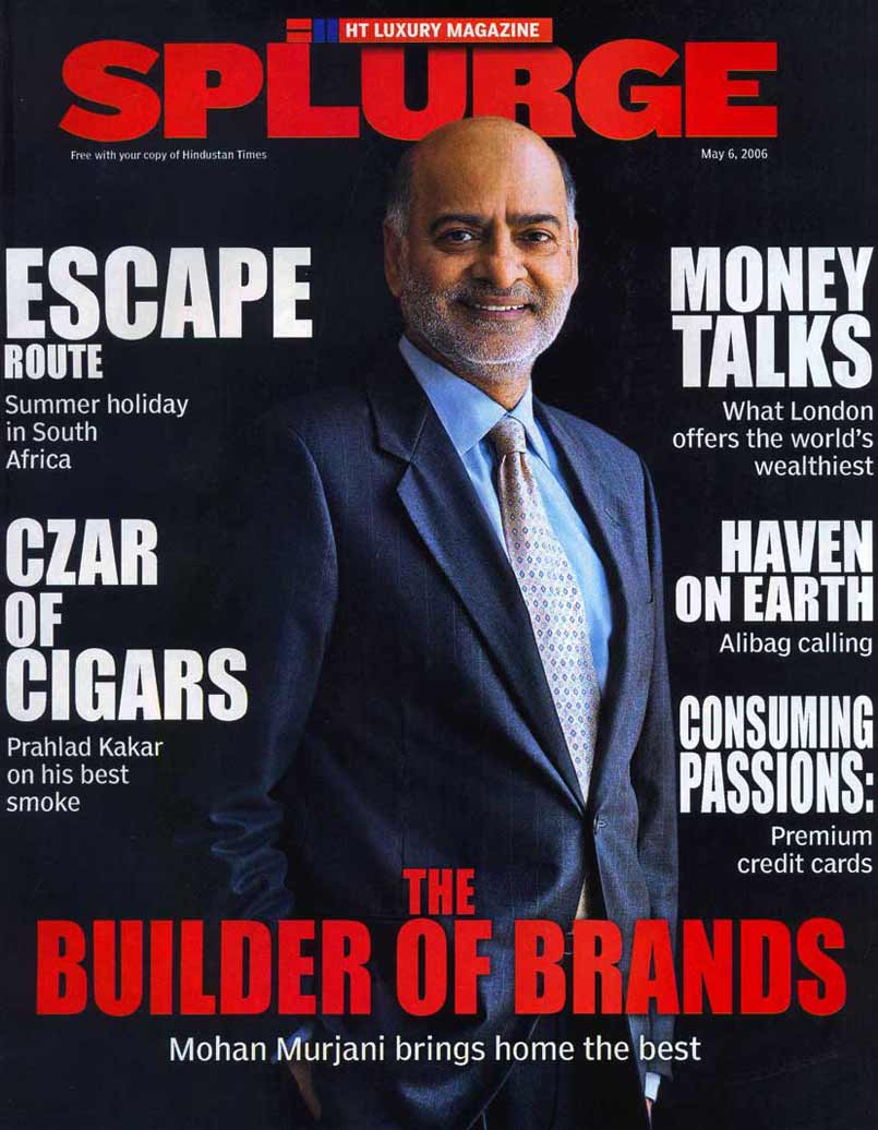 The Builder of Brands - Front Cover of HT Splurge Luxury Magazine